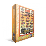 Fire Trucks Jigsaw Puzzle for Kids, 100 pieces Eurographics