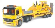 Bruder Mercedes Low Loader Truck with CAT Bulldozer