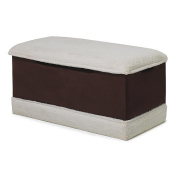 Harmony Kids Chocolate Micro With White Plush Deluxe Toy Box