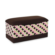Harmony Kids Chenille Dots With Chocolate Micro Deluxe Toy Box
