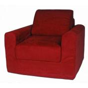 Fun Furnishings Micro Suede Sleeper Chair - Red