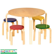 Guidecraft Nordic-Inspired Table & Stools, Primary