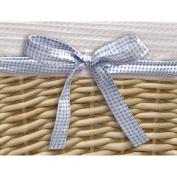 Badger Basket Natural Basket  with White Waffle Liner and 4 Ribbons