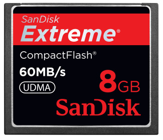SanDisk Extreme 8GB Compact Flash 60MB/S
