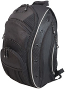 """Mobile Edge MEEV01 EVO Laptop Backpack - Fits Notebook PCs up to 16"""", Black with Silver Trim"""