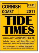 Cornish Coast Tide Times 2011