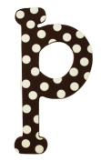 My Baby Sam Polka Dot Letters, Brown/White