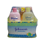 Johnson's Baby Bathtime Gift Set With Baby Shampoo 205 ml Baby Lotion 265 ml Head-To-Toe Body Wash 265 ml Baby Oil 90 ml Baby Powder Pure Cornstarch With Aloe And Vitamin E-9 oz
