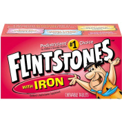 Flintstone with Iron Chewable Vitamin 60-Ct