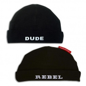 Silly Souls Dude & Rebel Beanie Duo Set