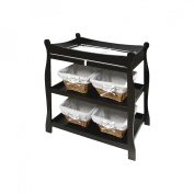 Badger Basket Black Sleigh Style Baby Changing Table