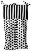 Tadpoles Damask Nappy Stacker - Black/White