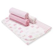 Gerber 5-Pack Flannel Receiving Blankets - Pink