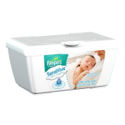Pampers Baby Wipes Tub, Sensitive with Touch of Milk Essentials - 64 Wipes/Tub