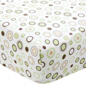 Carters Easy Fit Printed Crib Fitted Sheet