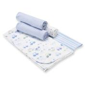Gerber 5-Pack Flannel Receiving Blankets - Blue