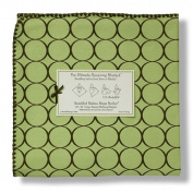 Swaddle Designs Ultimate Receiving Blanket - Lime with Brown Mod Circles