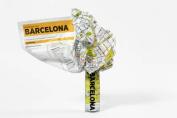 Barcelona (Crumpled City Map)