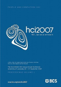 Proceedings of HCI 2007 (Vol. 1)