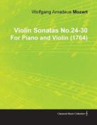 Violin Sonatas No.24-30 by Wolfgang Amadeus Mozart for Piano and Violin