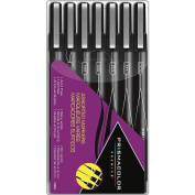 Prismacolor Premier Markers 7/Pkg-Assorted Tips - Black
