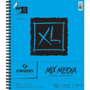 Canson C702-2421 11 in. x 14 in. XL Wire Bound Mix Media Pad - 60 Sheets