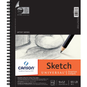 Pro-Art 457482 Canson Universal Sketch Book 9 in. x 12 in. -100 Sheets