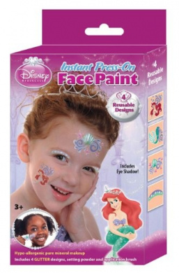 Instant Press-On Face Paint - 4 Designs - Disney Princess Ariel