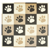 Tadpoles Pawprint Playmat Set - Brown