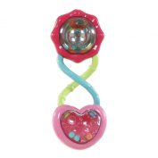 Bright Starts Pretty in Pink Rattle & Shake Barbell, 0M+, 1 rattle