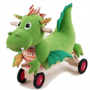 Eco-Friendly Puffy Dragon Four-Wheeled Plush Ride-On