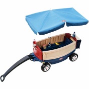Little Tikes Deluxe Ride and Relax Waggon with Umbrella