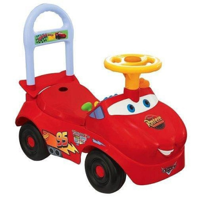lightning mcqueen activity ride on by kiddieland toys
