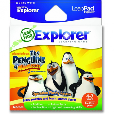 Leapfrog Leapster Explorer Penguins of Madagascar Game