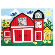 Melissa & Doug Dress-Up Mix 'n Match Peg Puzzle - Peek-A-Boo Farm