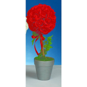 Red Rose Topiary Centrepiece