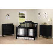 DaVinci Jayden and Piedmont Full Size Bed Rail Set - Ebony