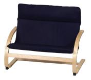 Guidecraft Kiddie Couch - Navy Blue/Natural