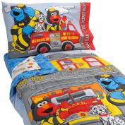 Sesame Street Fire Department 4-Piece Toddler Bedding Set