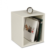 zBoard Eco 39cm . x 34cm . White Stackable Storage Cube Organiser