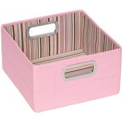 JJ Cole Short Storage Box - Pink Stripe