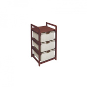 Badger Basket Badger Basket  Three Drawer Hamper - Cherry