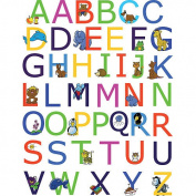 Spirit Alphabet Wall Decals with Animals - Multi
