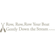 WallPops 2 Sheet Row your Boat Nursery Rhyme Decal Kit - Pewter