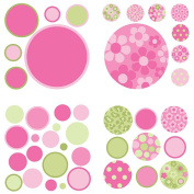 WallPops 8 Sheet Gone Dotty Wall Decals - Pink/Green