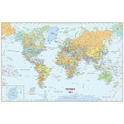 WallPops World Dry-Erase Map Wall Decal - Multi