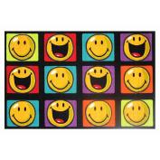 La Rug Multi Colored Rug - Happy & Smiling - 39x58 inch