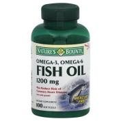 Natures Bounty Omega-3 Fish Oil 1200 mg, 100 softgels