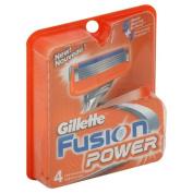 Gillette Fusion Power Razor Blade Refills, 4 Ct