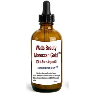 Watts Beauty Moroccan Gold - 100% Pure Raw Cold Pressed Argan Oil - Certified Professional Use